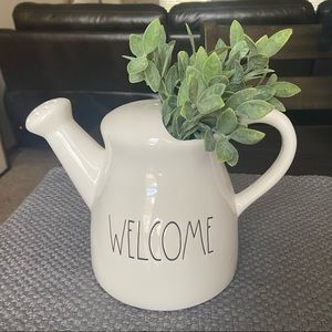Rae Dunn Welcome Watering Can Vase